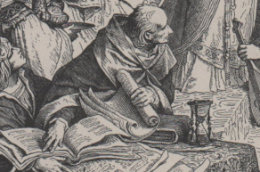 The court scholar serving Hermann of Thuringia.