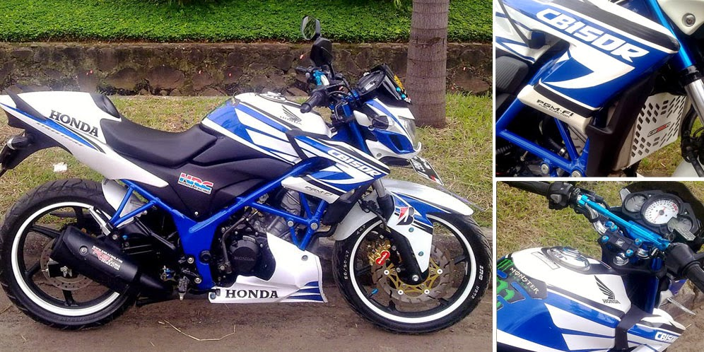 Modifikasi Honda CB150R Manis Cantik Tampil Lebih Mentereng