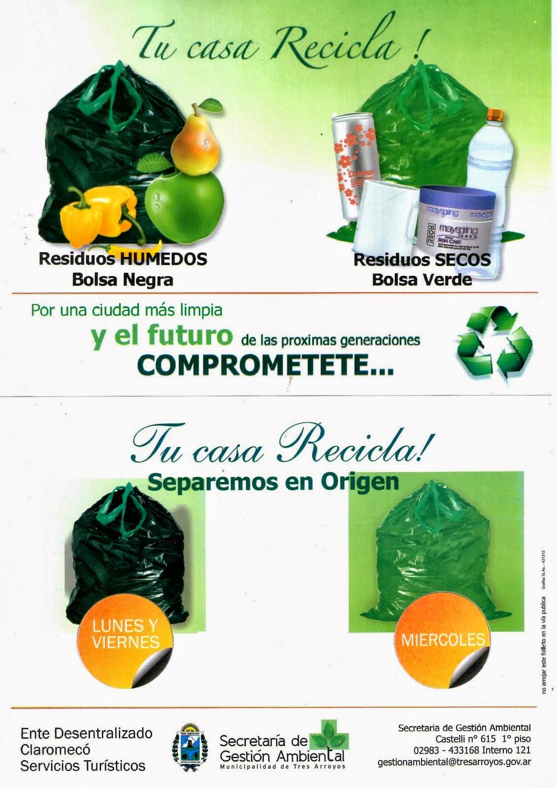 'tu casa recicla' en claromecó