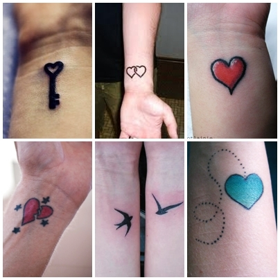 Best tattoo heart tattoo designs for wrist for Inspirational wrist tattoos