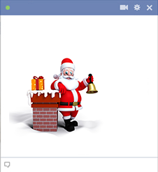 Santa on roof - Facebook icon