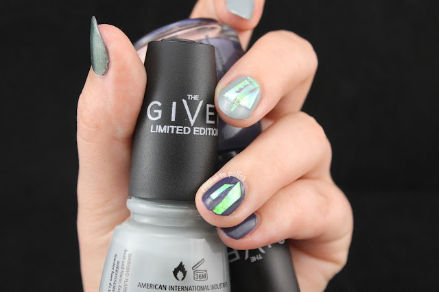 Iridescent Hoop Tape Nails Featuring Some China Glaze The Giver Polishes