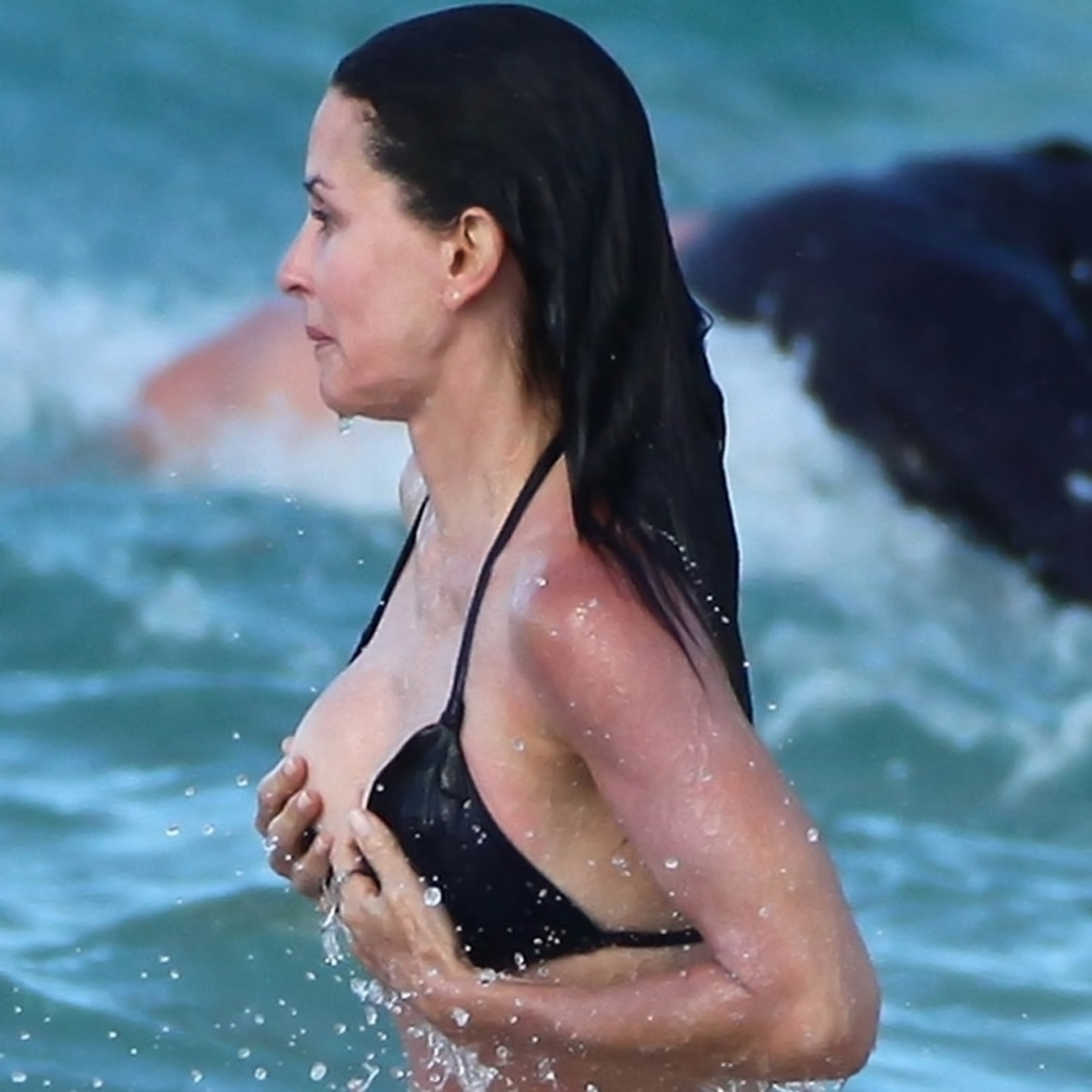 The man's boob courteney cox woman sheer