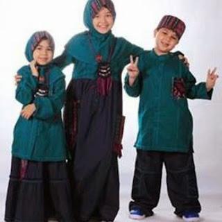 Gambar baju muslim anak dannis trend 2015