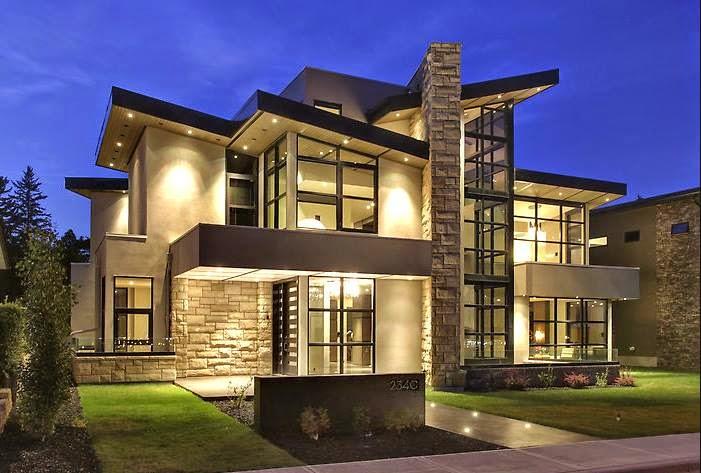 Construindo minha casa clean casa moderna com tons de cinza na decora o - Modern family house with stylish and elegant design ...