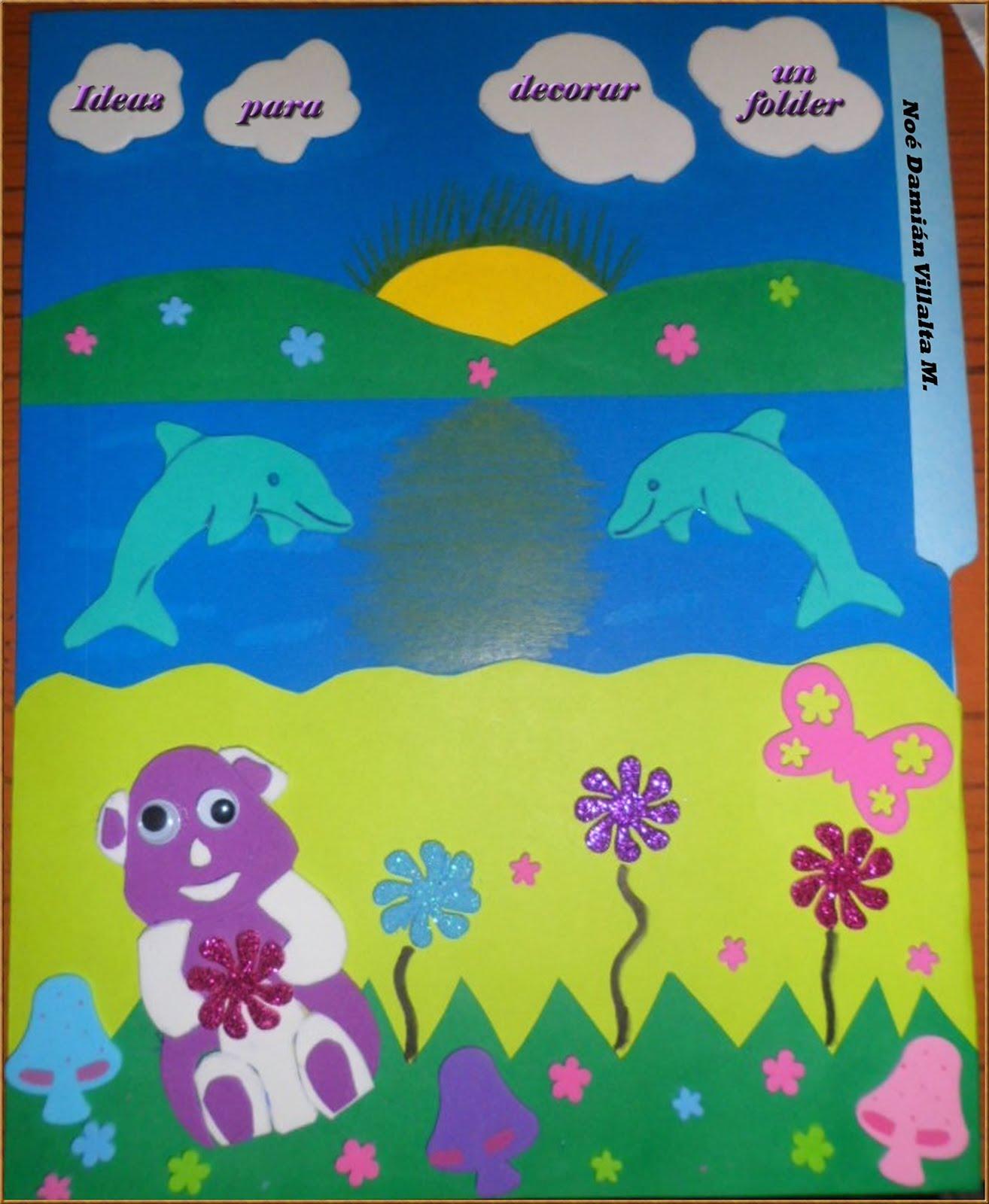 Ideas para decorar un folder