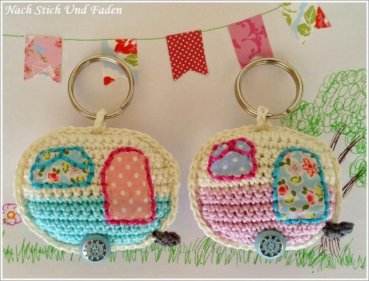 Caravan Knitting Pattern : Nach Stich Und Faden: Hakelanleitung: Retro Caravan Keyring