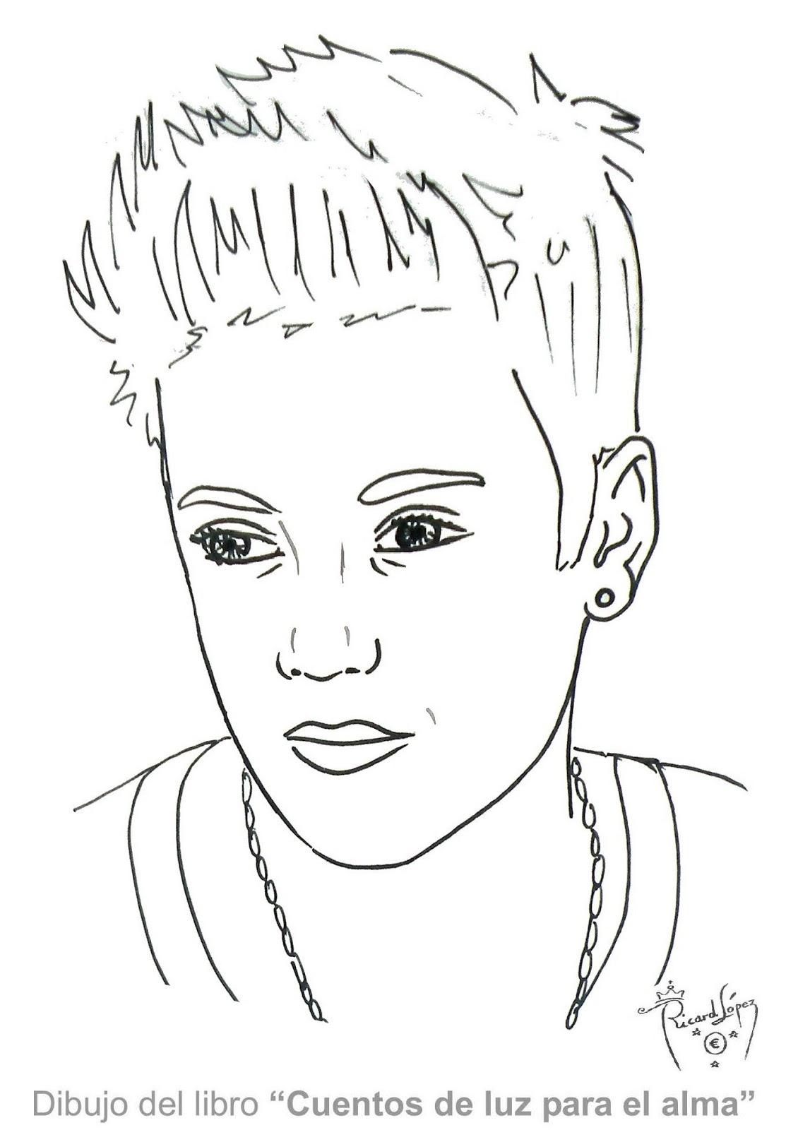 Dibujos Originales Para Pintar. Perfect Dibujo De Justin Bieber With ...