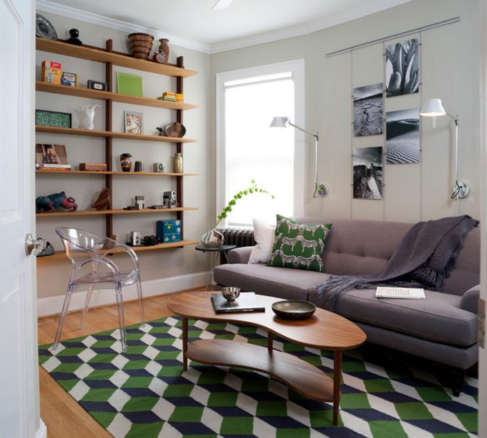 оформление маленькой гостиной