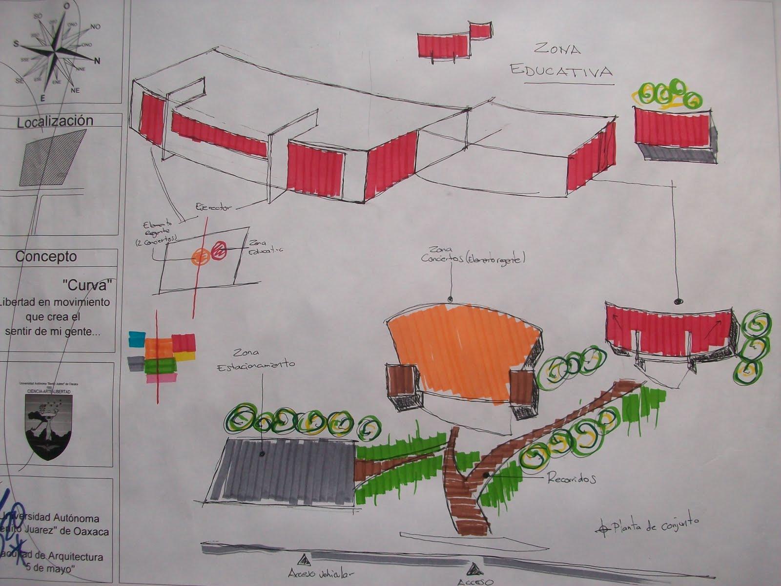 Escuela superior de musica proceso de dise o for Que es una planta arquitectonica
