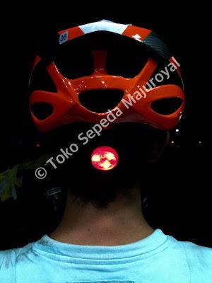 Helm Sepeda Avand LED bag belakang