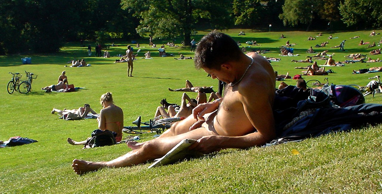 Nude Men At Park