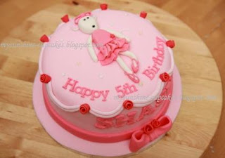 How to make an angelina ballerina cake ehow party for Angelina ballerina edible cake topper decoration sale