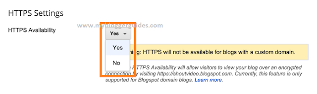 Turn On HTTPS for Blogger Blogspot