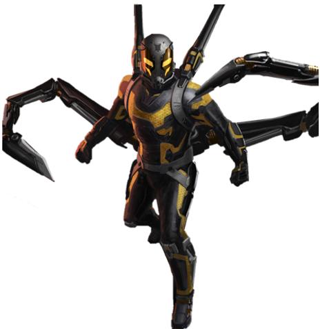 Ant Man y Yellow Jacket festival amarilla oficial de la película película Marvel
