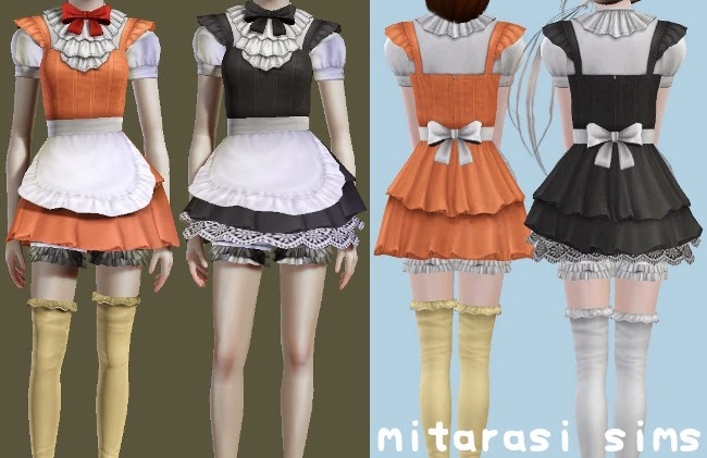 How to choose tiles for bathroom - My Sims 3 Blog Maid Uniforms By Mitarasi
