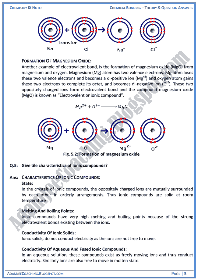 chemical-bonding-theory-notes-and-question-answers-chemistry-ix