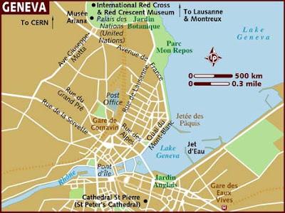 Ginevra Mappa della città