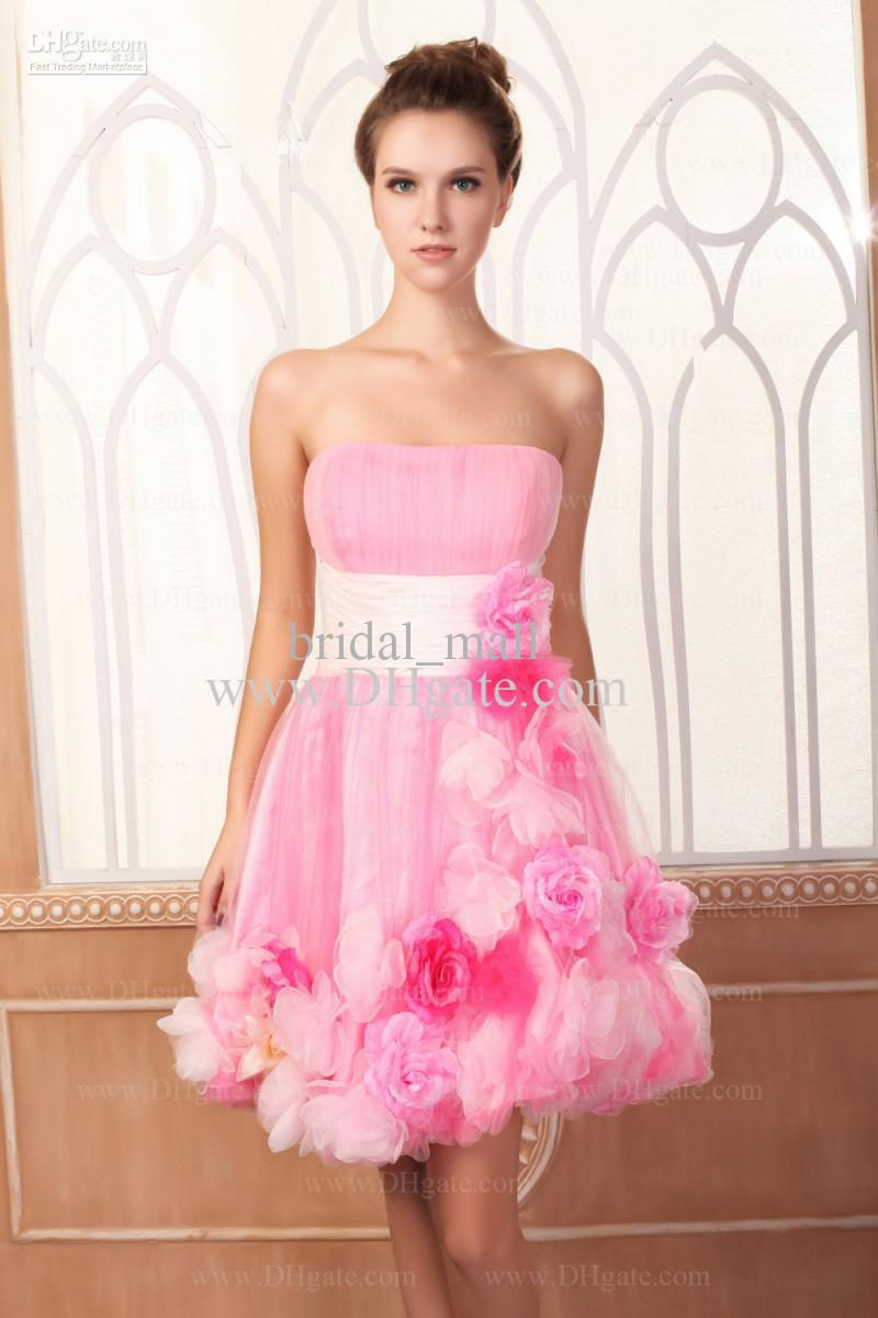 Cute Pink Prom Dresses - Plus Size Masquerade Dresses