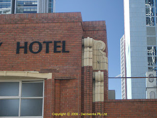 Facade detail Century Hotel