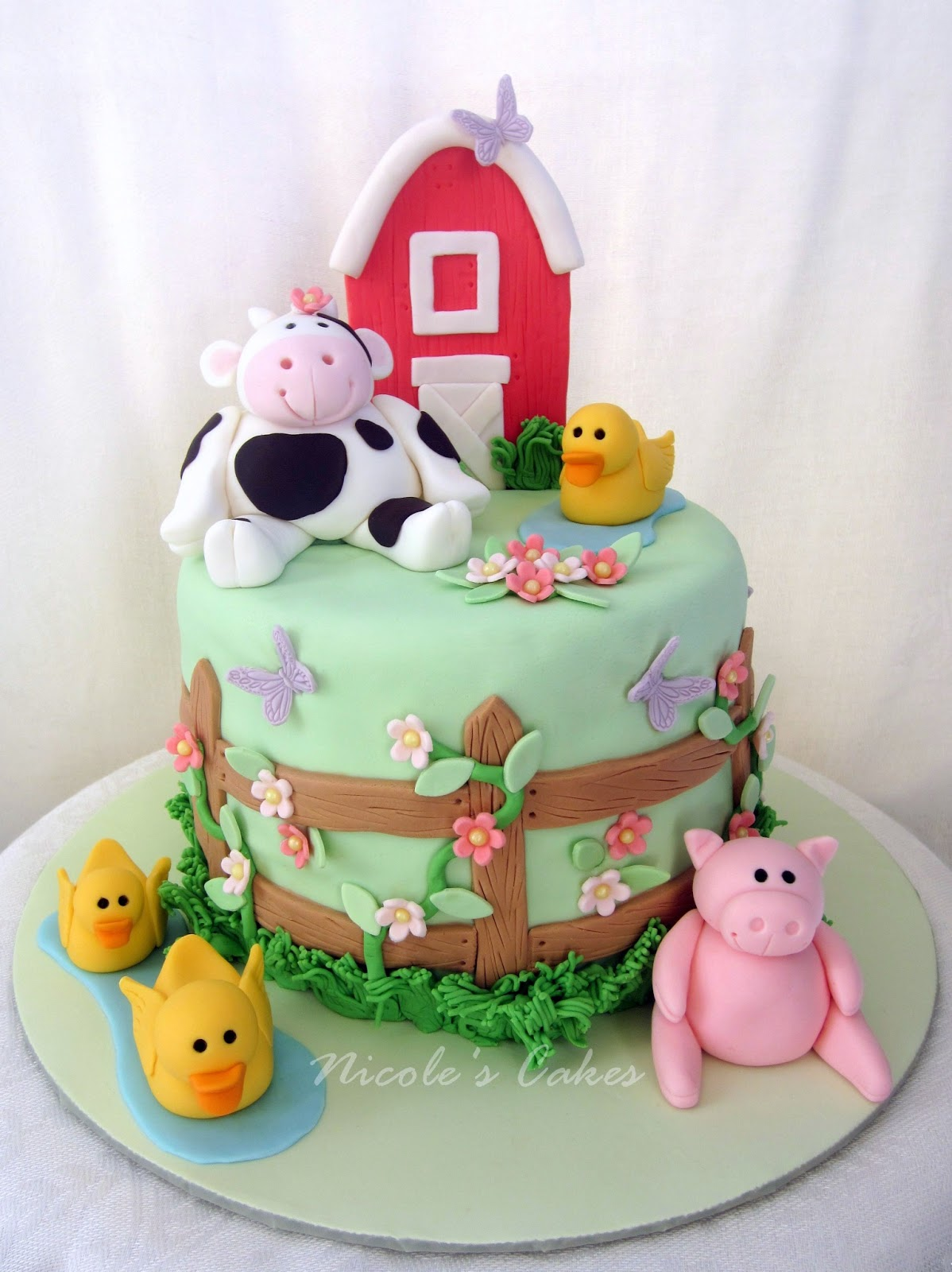 Cake Decoration Farm Theme : Confections, Cakes & Creations!: Farm Themed Baby Shower Cake!