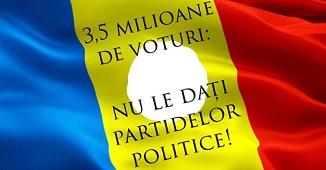 Peter Costea 🔴 3.5 milioane de voturi: nu le dați partidelor politice!
