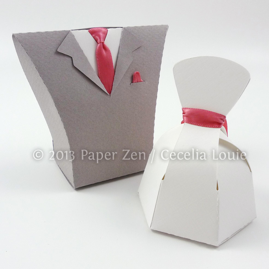 Bride Groom party favor box