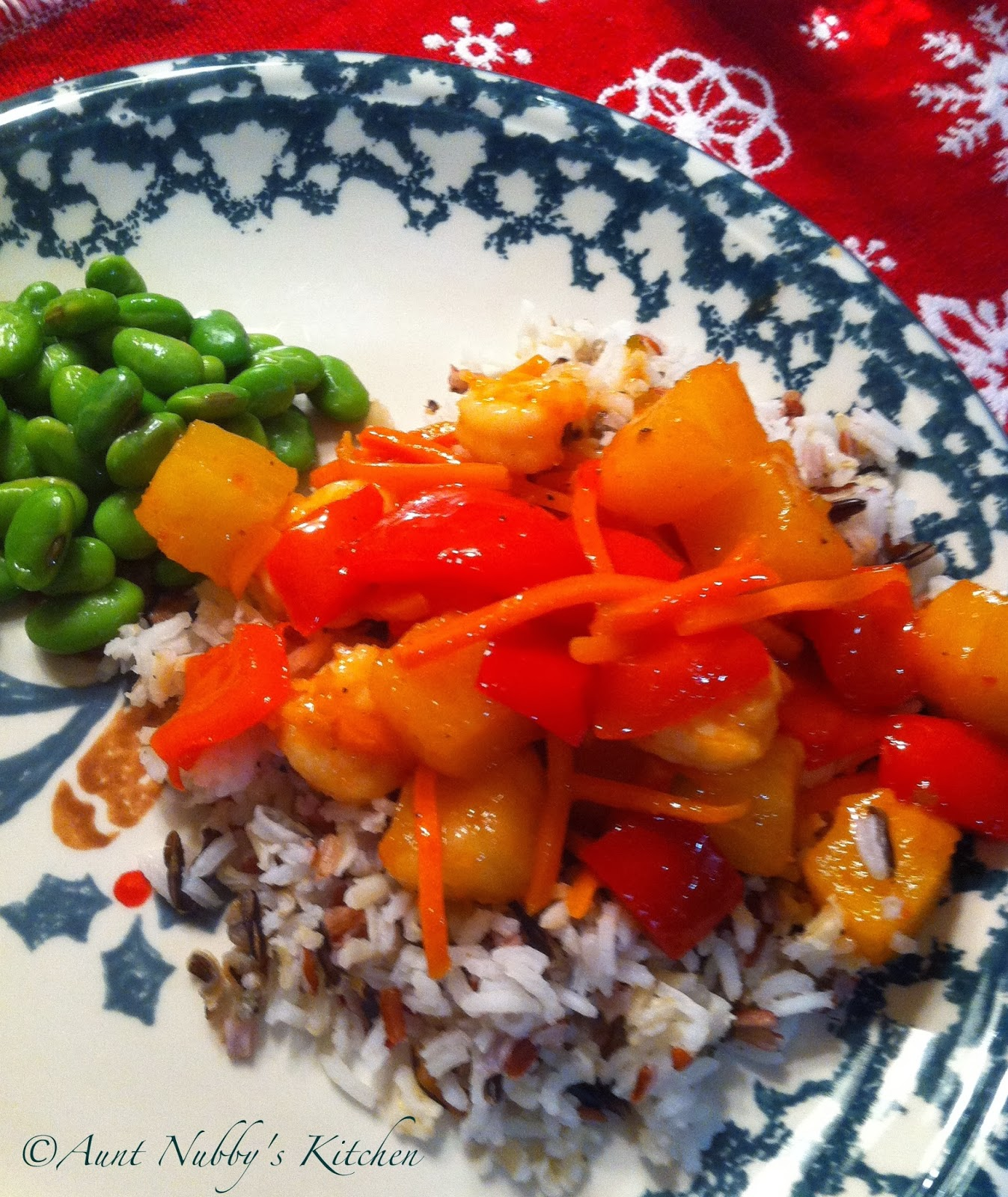Sugar Spice and Spilled Milk: Pineapple Shrimp Stir-Fry
