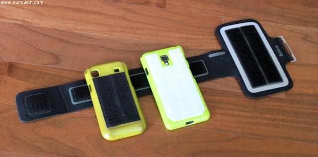 Banda para brazo con móviles sujetos con velcro