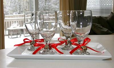 decorar copas con lazos