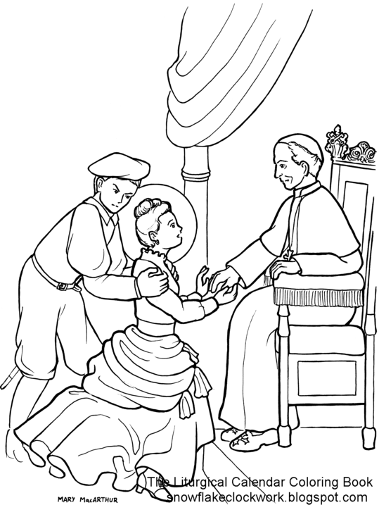 st therese coloring page due to health issues and things making me busy i wont be able to send out octobers pages till a couple days into the month