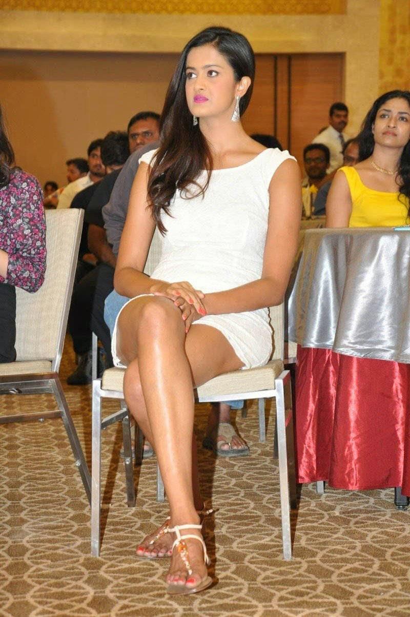 Shubra Aiyappa At Memu Saitham Stars Cricket Curtain Raiser Press Meet Stills