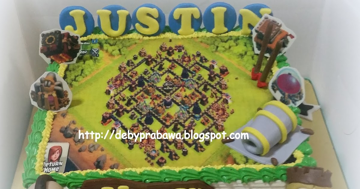 Butterfly Cake: Clash of Clans with Hog Rider and Barbarian King ...