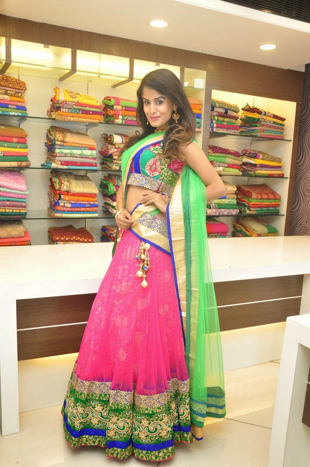 Anukruthi Glam pics in half saree-HQ-Photo-9