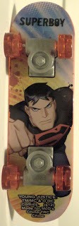 Bottom view of McDonald's Young Justice Superboy mini skateboard