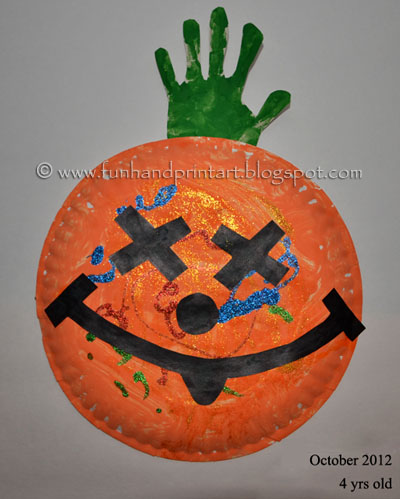 Paper Plate Pumpkin Craft {Preschooler}
