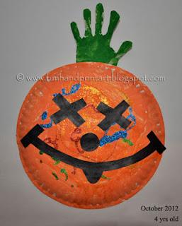 Paper Plate Pumpkin Craft {Preschooler}