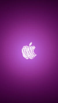Pink Apple Logo Wallpaper for iPhone 5