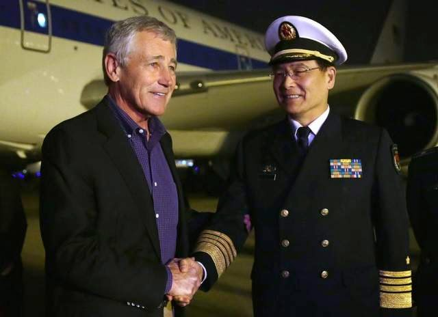 Military News - Hagel tours China's new aircraft carrier