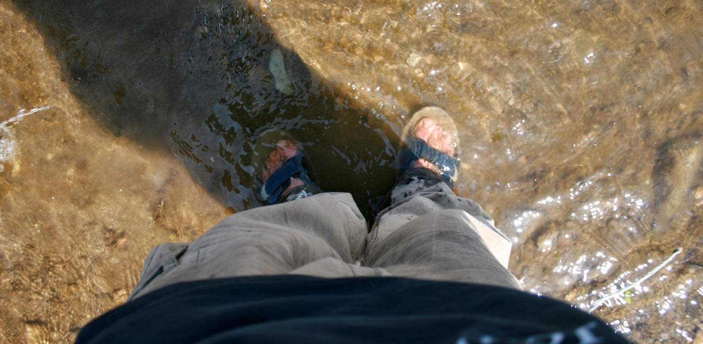 Getting myself involved in the water fun