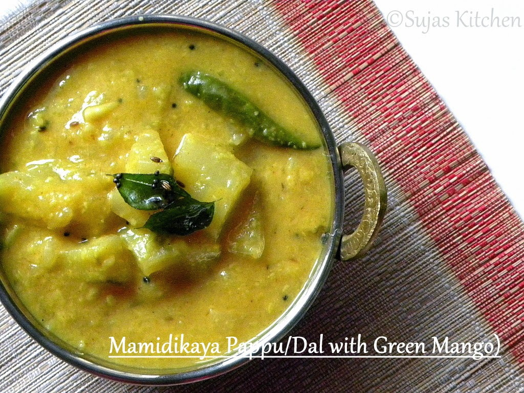 Mamidikaya Pappu/Dal with Green Mango
