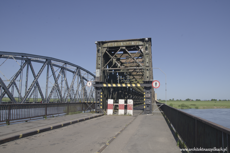 19th century railway bridge in Tczew, Poland