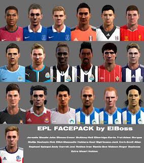(PES 2013) EPL Facepack by ElBoss