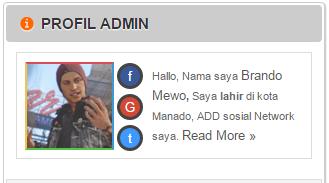 Cara Memasang Widget Profil About Me di Blog