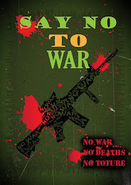 NO WAR (typography)