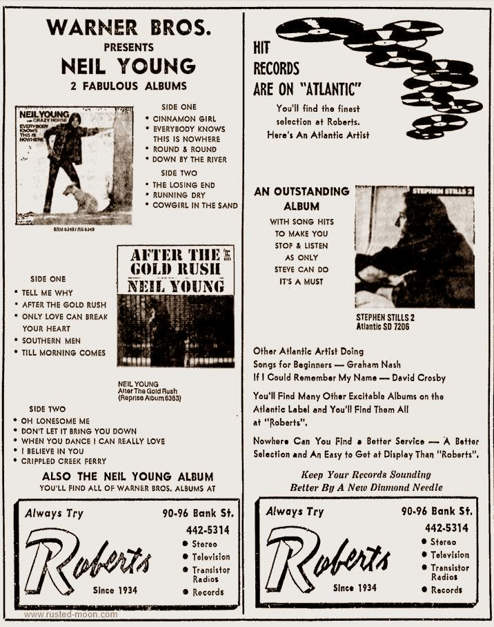 Anzeige Neil Young, Stephen Still, 1971