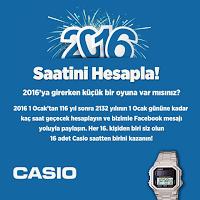 Casio'dan yılbaşına özel 'Saatini hesapla' kampanyası