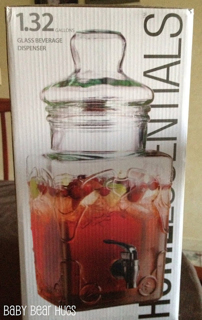 1.32 gallon glass beverage dispenser by home essentials