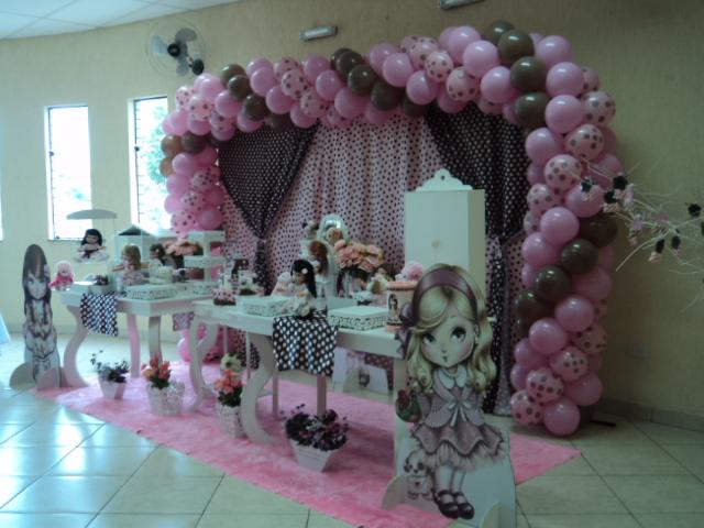decoracao mesa branca: PARA FESTAS INFANTIS: Decoração Boneca Jolie Mesa Provençal Branca