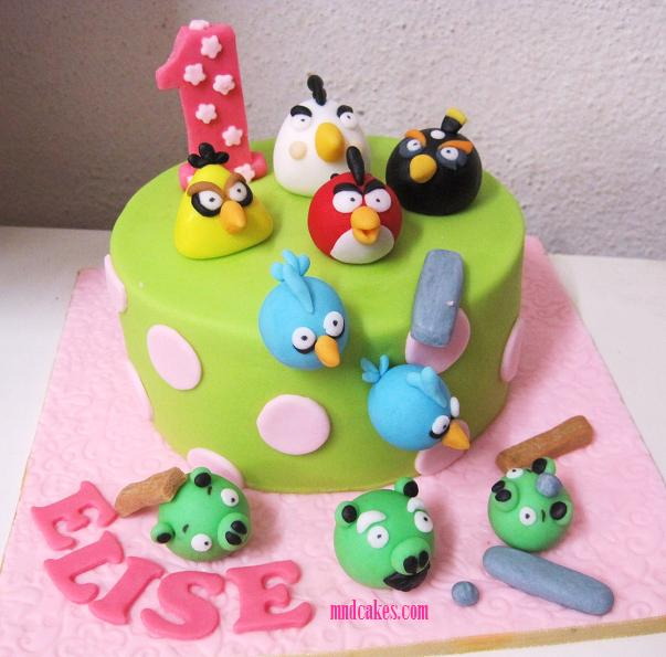Mom And Daughter Cakes Angry Birds Cake For One Year Old Girl